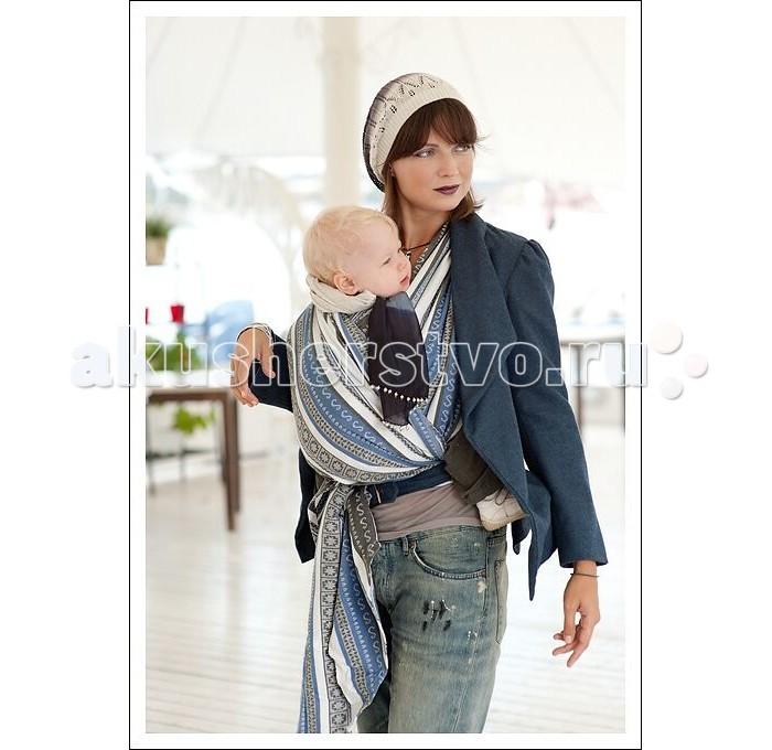 слинги ellevill paisley с кольцами бамбук лён m 2 1 м Слинги Ellevill Zara Tricolor шарф, хлопок (4.7 м)