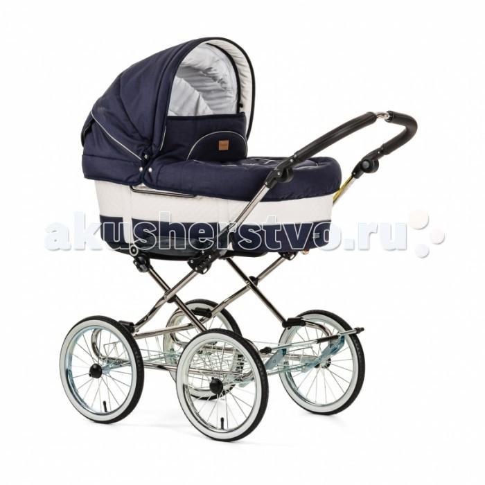 Коляска Emmaljunga Mondial Duo Combi 2 в 1Mondial Duo Combi 2 в 1Коляска Emmaljunga Mondial Duo Combi 2 в 1 создана для детей в возрасте от 0 до 3 лет и рассчитана на покупателей, которые следят за модой и хотели бы обладать эксклюзивной и элегантной классической коляской-трансформером мирового класса.  Технические характеристики отлично зарекомендовали себя и выверены до малейших деталей, поскольку модель Mondial разработана на основе одной из самых популярных в мире моделей (Carmen) - одного из лидеров продаж Emmaljunga.  С коляской Mondial вы можете со спокойной совестью ходить по магазинам или гулять целый день - в просторной колыбельке Вашему малышу будет обеспечено спокойствие и полный комфорт.  Модель Mondial Duo Combi имеет все, что нужно ребенку на протяжении трех первых лет жизни: это люлька-качалка и сиденье, которым легко и просто можно заменить люльку, когда ребенок подрастет.  Люлька:  Люлька имеет функцию качалки.  Люлька с утепленным пробковым дном и с матрасиком.  ThermoBase Запатентованная система вентиляции. Обеспечивает вашему малышу комфортное пребывание в коляске.  Все материалы, используемые в колясках Emmaljunga являются экологически чистыми и безвредными для кожи малыша и соответствуют международным требованиям безопасности. Вес люльки: 6,6 кг.  Размеры люльки: длина 80 х ширина 37 х глубина 20 см.  Материал: верхний под кожу.  Прогулочное сиденье:  Светоотражающие полосы в швах коляски способствуют безопасности движения.  Металлический каркас защищает голову ребенка при полностью опущенной спинке сидения.  Система EasyFix облегчает установку люльки и прогулочного сидения.  E.A.S.T. система регулировки жесткости подвески, 3 уровня.  Прогулочное сидение устанавливается как по направлению движения так и против.  Внешняя трехслойная ткань Protex обеспечивает всепогодную защиту: уменьшает вредную ультрафиолетовую радиацию, отлично защищает от ветра, но выпускает сырой воздух и может кратковременно противостоять даже сильному ливню.  Двусторонняя