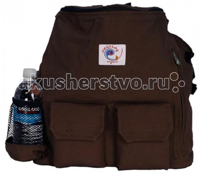 Ergo Baby Рюкзак за спину Travel OrganicРюкзак за спину Travel OrganicErgo Baby Рюкзак за спину Travel Organic закрепляется на переноске застежками-липучками, так и отдельно, в качестве рюкзака за спиной (плечевые лямки и крепления убираются в специальное заднее отделение на липучках) или сумки для вещей (есть ручка для носки в руке). Основное отделение на двойной молнии, внутри одно вместительное отделение для вещей и два кармашка из сетки. Заднее вместительное отделение на молнии, внутри которого большой и мягкий матрасик для пеленания (прикрепляется липучкой, отстегивается для стирки). Боковые карманы (для бутылочек) на молнии, сверху (рядом с ручкой) имеется выход для наушников. Снаружи дополнительное отделение на бесшумном магните.   В комплекте с матрасиком для пеленания малыша. ERGO BABY TRAVEL PACK ORGANIC производится из 100% органического хлопка Twill.<br>