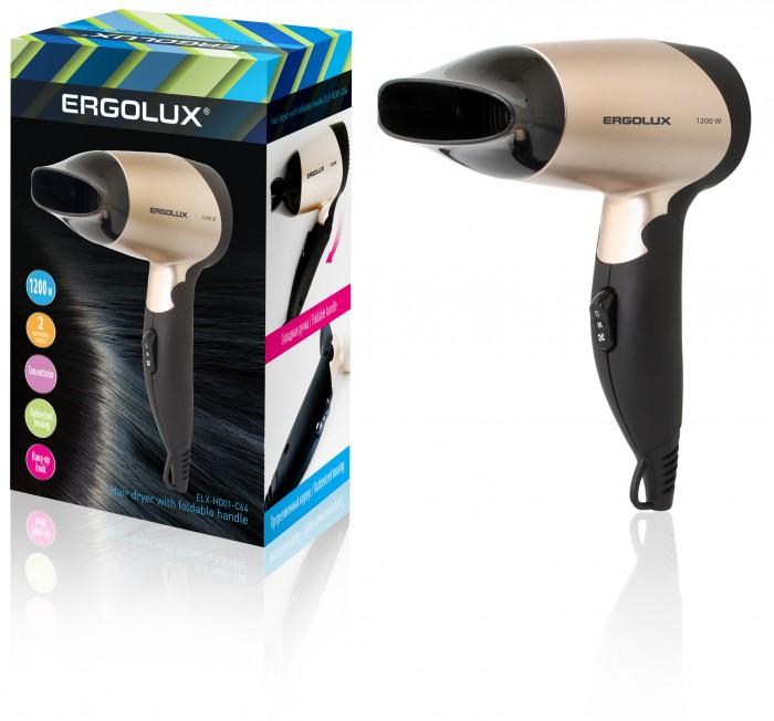 Бытовая техника Ergolux Фен со складной ручкой ELX-HD01 фен ergolux elx hd05 с12 фиолетовый