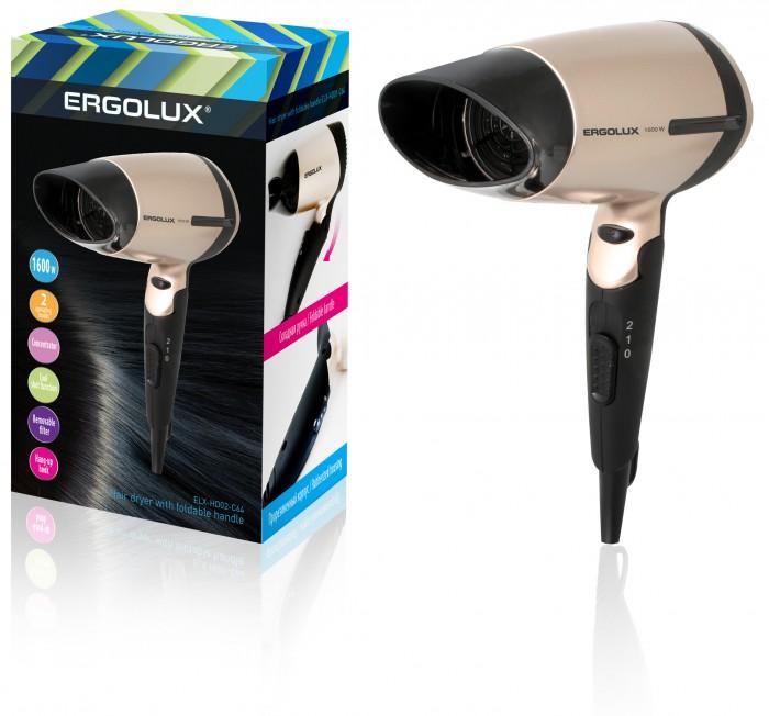 Бытовая техника Ergolux Фен со складной ручкой ELX-HD02 фен ergolux elx hd05 с12 фиолетовый