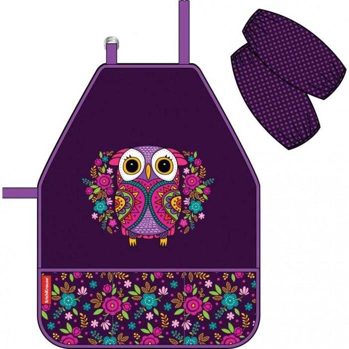 Детские фартуки Erich Krause Фартук с нарукавниками Flower Owl