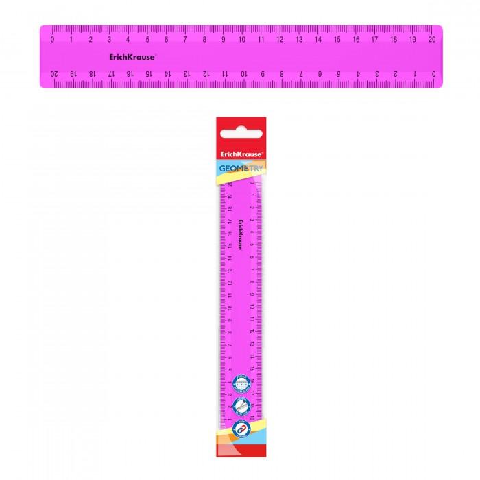 Канцелярия Erich Krause Линейка пластиковая Neon Solid 20 см