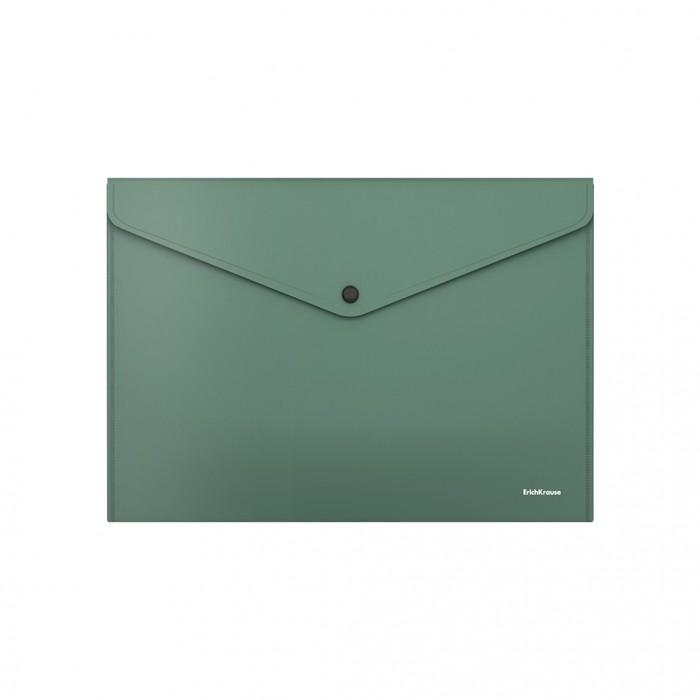 Канцелярия Erich Krause Папка-конверт на кнопке пластиковая Fizzy Classic непрозрачная А4
