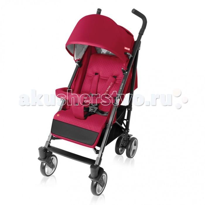 Прогулочная коляска Espiro ActiveActiveПрогулочная коляска Espiro Active незаменима для городских прогулок летом и в межсезонье.   Вес коляски менее 8 кг, она достаточно вместительная и комфортная, как для родителей, так и для малыша. Espiro Active имеет удлиненный капюшон, дополнительный ограничитель, плавную регулировку спинки.  &#8203; В комплекте: чехол на ножки и дождевик  Особенности:  Удлиненный капюшон с защитой УФ +50; Капюшон со смотровым окошком Дополнительный ограничитель между ножек Съемный барьер Многоступенчатая плавная регулировка наклона спинки – ремешками Регулируемая подножка в отделке из практичного материала, защищающего от загрязнения Пятиточечные ремни безопасности с мягкими накладками и удобным замком ; Ремешки переставляются по высоте Практичный карман для мелочей на капюшоне Вместительная корзина Передние плавающие колеса с блокировкой Амортизация всех колес Оригинальная качественная ткань сиденья Габариты коляски: Вес коляски 7.8 кг Диаметр колес (передние/задние) - 16/16 см Ширина колесной базы - 51 см Высота, длина коляски - 106 х 85 см Размеры в сложенном виде: 32 х 109 х 30 см Размеры сиденья:  Высота спинки - 45 см Ширина сиденья - 33 см  Глубина сиденья - 21 см<br>