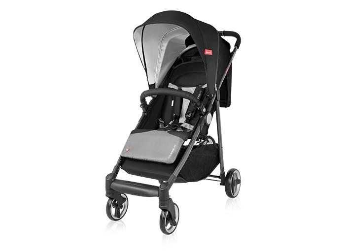 Прогулочная коляска Espiro NanoNanoДинамичная и современная детская коляска Espiro Nano с быстрой системой складывания и просторной корзиной является идеальным помощником для Вас, дорогие родители. Маневренная и комфортная, она компактна в сложенном виде и занимает минимум пространства. Просторное и вместительное сиденье, регулируемая подножка - коляска легко адаптируется к подросшему малышу.  Достоинства прогулочной коляски Espiro Nano: Уникальная система складывания коляски - вы без труда сможете сложить коляску одной рукой при помощи кнопки на ручке Удлиненный глубокий капюшон закроет малыша от палящего солнца и от порывистого ветра Внутренняя ткань капюшона с защитой от УФ лучей + 50 Просторное и комфортное сиденье со вставками из дышащего материала. Длина спального места - 86 см! Наклон спинки регулируется плавно при помощи ремешков - легко выбрать комфортное положение для малыша, не потревожив его сон Коляска оснащена пятиточечными ремешками безопасности с мягкими накладками, возможны несколько вариантов крепление ремней по высоте Механическая регулировка подножки (3 положения) увеличивает спальное место коляски Съемный бампер с удобными кнопками, можно отстегнуть с одной из сторон и посадить малыша в коляску Большая корзина для покупок может вместить все необходимые вещи, которые мама возьмет с собой Передние колеса плавающие, вращаются на 360 градусов, при необходимости блокируются удобными кнопками Полная амортизация все колес обеспечивает плавный ход Практичный карман для мелочей Складывается вместе с бампером, автоматически блокируется при складывании     Размеры коляски в разложенном виде - 103х97х51 см  Размеры коляски в сложенном виде - 88x51x34 см  Ширина шасси - 51 см  Высота спинки - 47 см  Глубина сиденья - 22 см  Ширина сиденья - 33 см  Вес - 8.6 кг  Диаметр колес ( передние/задние) (см) - 13/16 см   Рама складывается книжкой - современная и безопасная система  Материал колес: вспененная резина В комплекте: удлиненный и утепленный чехол на ножки, 