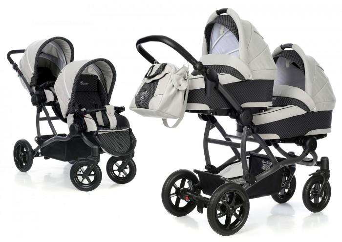 Детские коляски , Коляски для двойни и погодок Esspero Коляска для двойни Duetto 2 в 1 (шасси Graphite) арт: 349575 -  Коляски для двойни и погодок