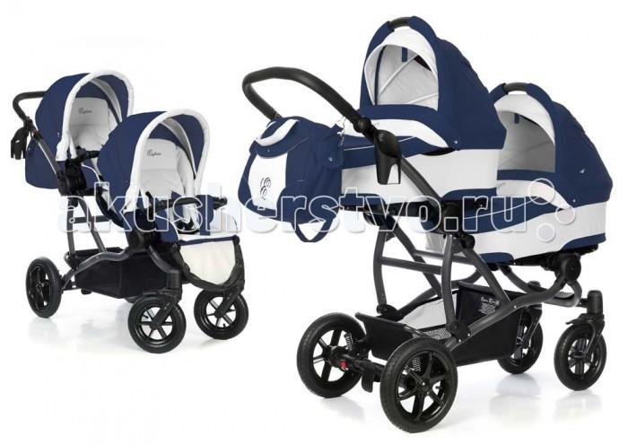 Детские коляски , Коляски для двойни и погодок Esspero Коляска для двойни Duetto 3 в 1 (шасси Graphite) арт: 349670 -  Коляски для двойни и погодок