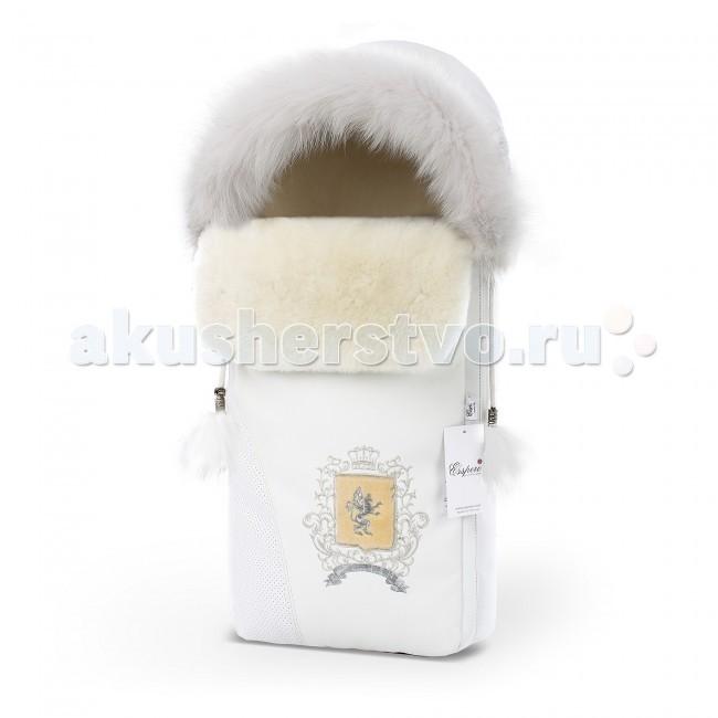 Зимний конверт Esspero Heir SWHeir SWЗимний конверт Esspero Heir SW относится к элитной линии зимних конвертов от бренда Esspero.   Особенности: Он прекрасно согреет в сырую или холодную погоду ребенка и вам не придется сокращать время или регулярность прогулок на свежем воздухе.  Его верхнее покрытие легко защитит вашего ребенка от влаги, ветра и осадков, так как состоит из перфорированной и высококачественной эко-кожи.  В качестве внутреннего наполнения, производитель выбрал натуральную овчину, которая прекрасно согревает и не накапливает влагу. Крепить данный конверт на коляску можно при помощи пятиточечных ремней, прорези под которые предусмотрены.  Его также можно использовать и в люльках, автокреслах или санках.  Имеется вшитая молния, которая в разы облегчает процесс помещения ребенка в конверт.  Капюшон украшен стильной меховой опушкой и может затягиваться при необходимости.  Все материалы прошли проверку на безопасность для детей, гипоаллергенность и экологическую чистоту. Размер: 75х40 см<br>