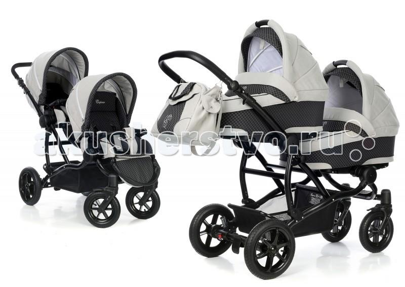 Детские коляски , Коляски для двойни и погодок Esspero Коляска для двойни 3 в 1 Duetto арт: 40615 -  Коляски для двойни и погодок