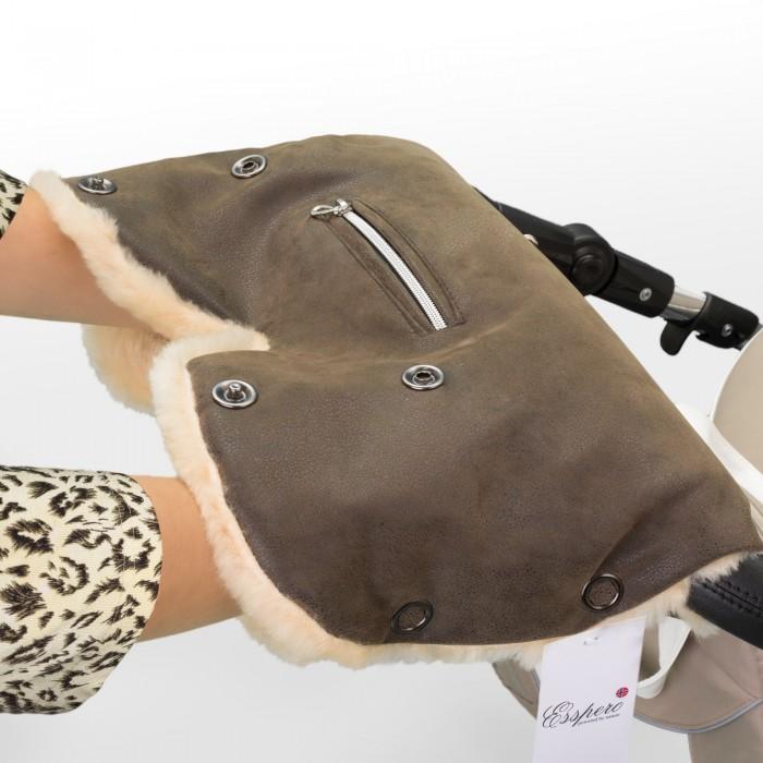 Муфты для рук Esspero Муфта для рук на коляску Isabella муфта для коляски esspero soft fur lux натуральная шерсть mocca rv51260020 108073464