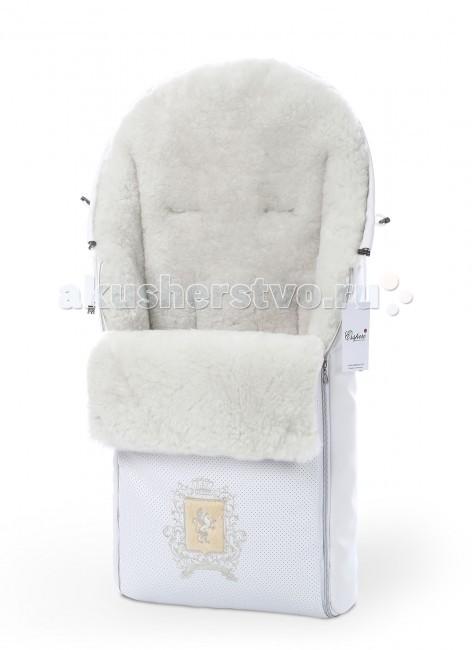 Зимний конверт Esspero QueenlyQueenlyЗимний конверт Esspero Queenly поможет Вам избежать промерзания и, как следствие, простудных заболеваний ребенка.  Особенности: Конверт может крепиться на коляске при помощи пятиточечных ремней безопасности благодаря наличию специальных прорезей. Верхнее покрытие конверта из качественной эко-кожи, известной своей высокой износостойкостью, надежно убережет внутренний наполнитель от влаги, а ребенка от ветра и осадков.  Утеплитель из натуральной овечьей шерсти подарит малышу постоянное комфортное тепло.  Оба материала отличаются экологической чистотой и гипоаллергенностью. Конструкция дает возможность полностью расстегнуть изделие, превратив его в накидку или одеяльце.  Есть затяжка, она позволяет плотнее прижать стенки модели к телу ребенка. Размер: 90х45 см<br>