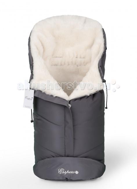 Зимний конверт Esspero Sleeping Bag WhiteSleeping Bag WhiteЗимний конверт Esspero Sleeping Bag White  отлично подойдет для прогулок в промозглую, ненастную, ветреную погоду.   Особенности: Внутри конверта расположен внутренний утеплитель белого цвета, состоящий из 100% натуральной овечьей шерсти.  Верх конверта изготовлен из плотной и крепкой ткани, которая не продувается ветром и пропитана водоотталкивающим составом. Для удобства его крепления на коляске имеются специальные прорези под пятиточечные ремни.  Конверт одинаково может использоваться как в коляске, так и в санках, а также автокресле. Размер: 90х45 см<br>