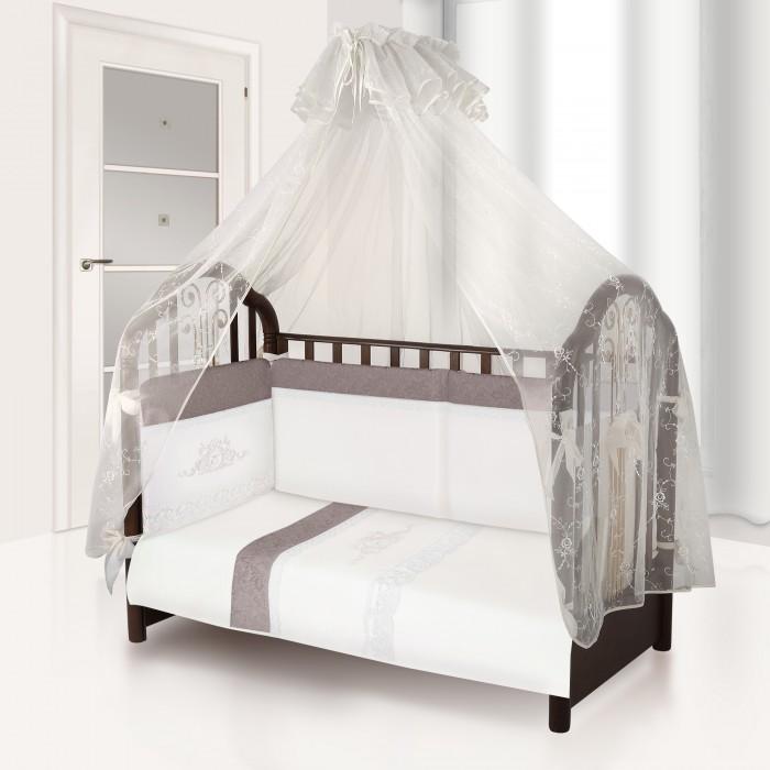 Комплект в кроватку Esspero Venice (6 предметов)Venice (6 предметов)Комплект в кроватку Esspero Venice (6 предметов) обеспечит малышу здоровый и комфортный сон в кроватке.   Наполнитель текстильных элементов - нежный холлофайбер. Материал не теряет форму в процессе эксплуатации, в нём не заводятся пылевые клещи. Внешняя обивка - натуральный хлопок. Комплект выполнен в аристократических расцветках, украшен стильными элементами декора.  В комплект входят: наволочка - 40 х 60 см  пододеяльник - 110 х 140 см простынка - 125 х 65 см съемный бортик подушка - 40 х 60 см одеяло - 110 х 140 см<br>