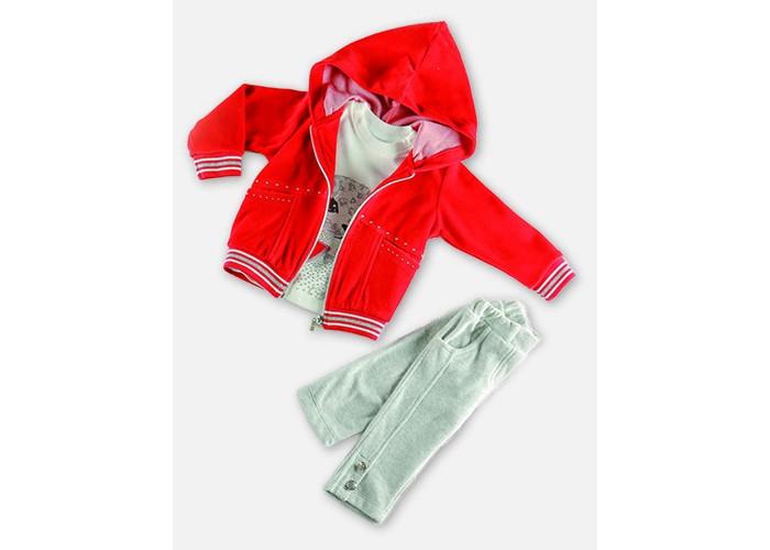 Детская одежда , Комплекты детской одежды Estella Комплект (Водолазка, толстовка, брюки) для девочки 515 арт: 411809 -  Комплекты детской одежды