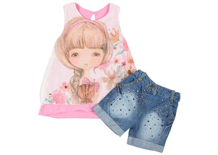 Комплекты детской одежды Estella Комплект (туника и шорты) Girl для девочки, Комплекты детской одежды - артикул:325279