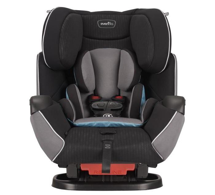 Автокресло Evenflo Symphony e3 65 LXГруппа 1-2-3 (от 9 до 36 кг)<br>Способы установки Установка против хода движения  - вес ребенка 2,2 - 16 кг. Установка по ходу движения  - вес ребенка 9 - 29,5 кг. Использование в качестве сиденья-бустера  - вес ребенка 13,5 - 45 кг.  Способы фиксации Фиксация штатным ремнем безопасности. Фиксация с помощью системы SureLATCH (ISOFIX).  Основные особенности Техноголия e3 (energy cube): - Увеличение поверхности боковой защиты на 25%. - Трехслойный абсорбент обеспечивает дополнительное гашение энергии удара. SureLATCH - разработка компании Evenflo, не имеющая аналогов на рынке. Обеспечивает исключительное удобство установки. Защелкиваем, нажимаем - и сиденье установлено! Автомобильное кресло все в одном. Используется для детей весом от 2,2 до 45 кг. Infinite Slide Harness - эксклюзивная разработка Evenflo. Теперь плечевые ремни можно зафиксировать в любом положении по высоте. Недоступный ранее уровень комфорта и безопасности! Точная регулировка угла наклона - простота и удобство эксплуатации. Регулируемый по высоте подготовник. Использование внутреннего 5-ти точечного ремня расчитано на вес ребенка до 30 кг. Длина ремней достаточна для комфортного передвижения в зимней одежде. Наличие дополнительного страховочного ремня. Быстросъемный чехол EZ Off - теперь не надо снимать и устанавливать ремни каждый раз, когда требуется постирать чехол. Удобный подстаканник - может устанавливаться справа и слева. Улучшенное качество материалов. Съемная поддерживающая подушка.