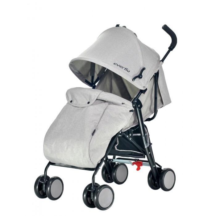 Коляска-трость Everflo VoyageVoyageКоляска-трость Everflo Voyage - удобная и лёгкая, натуральные материалы будут приятны ребёнку, а современный дизайн и функциональность понравятся родителям.  Особенности: стильный дизайн  надёжная стальная рама             плавающие передние колеса поворачиваются на 360 градусов и обеспечены фиксаторами, что даёт возможность использовать коляску на разных дорожных покрытиях (тротуары, песок, галька, снег). задний тормоз устойчивость коляски обеспечивают сдвоенные колёса  -съёмный бампер c мягким разделителем между ножек корзина для покупок три положения спинки, включая горизонтальное положение регулируемая подножка простой механизм складывания трость обеспечит компактное хранение и транспортировку коляски,                                        пятиточечные ремни с мягкими накладками безопасности обеспечат безопасность вашего малыша. Ширина сиденья 30 см Глубина сиденья 24 см Комплектация: корзина для покупок, накидка на ножки.<br>