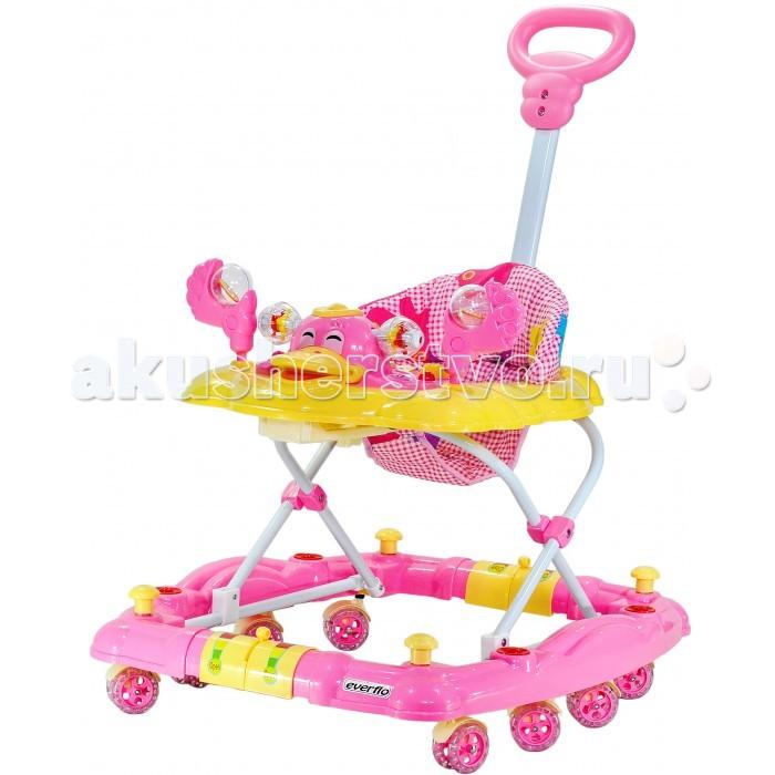 Детская мебель , Ходунки Everflo Утенок 3 в 1 WT413 арт: 51993 -  Ходунки