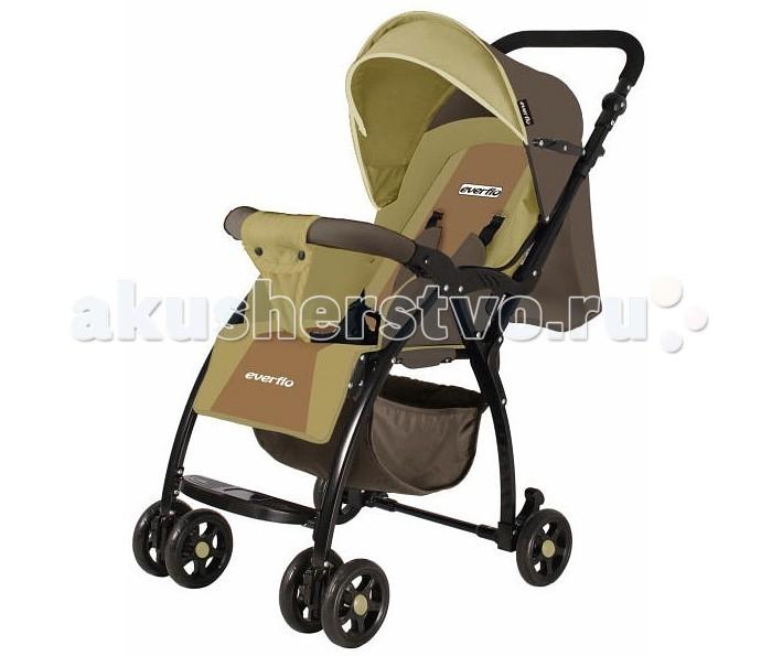 Прогулочная коляска Everflo E-219E-219Прогулочная коляска Everflo E-219 это комфортная, просторная и маневренная помощница для молодых родителей.   Новинка 2017 года имеет главную особенность - маленький вес, который позволяет без труда переносить ее в руках.  Особенности: эффектная расцветка и стильный дизайн рама сделана из алюминия, что обуславливает небольшой вес передние колеса спарены. Они легко поворачиваются вокруг своей оси на задних колесах установлен стояночный тормоз компактно складывается книжкой вместительная корзина для вещей высоту родительской ручки можно регулировать спинку можно опускать в горизонтальное положение, чтобы увеличить длину спального места, поднимите подножку пятиточечные ремни безопасности с мягкими накладками съемный бампер безопасности большой капюшон опускается до бампера. В капюшоне имеется карман и смотровое окошко теплый чехол на ножки согреет в непогоду.  Размеры и вес: возраст детей: 6-36 месяцев максимальный вес ребенка: 20 кг   ширина сиденья: 25 см глубина сиденья: 30 см длина спального места: 82 см размер коляски в разложенном виде: 51 х 95 х 77 см размер коляски в сложенном виде: 51 х 26 х 94 см<br>