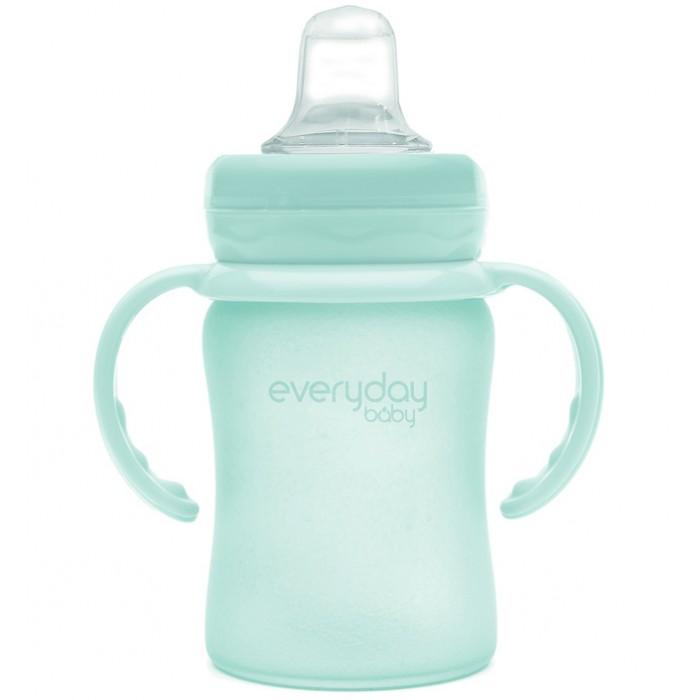 Поильник Everyday Baby Стеклянная бутылочка с мягким носиком с защитным силиконовым покрытием 150 мл