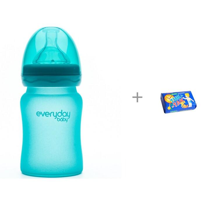 Купить Бутылочки, Бутылочка Everyday Baby Стеклянная с индикатором температуры 150 мл и Мыло Свобода Тик-так 150 г