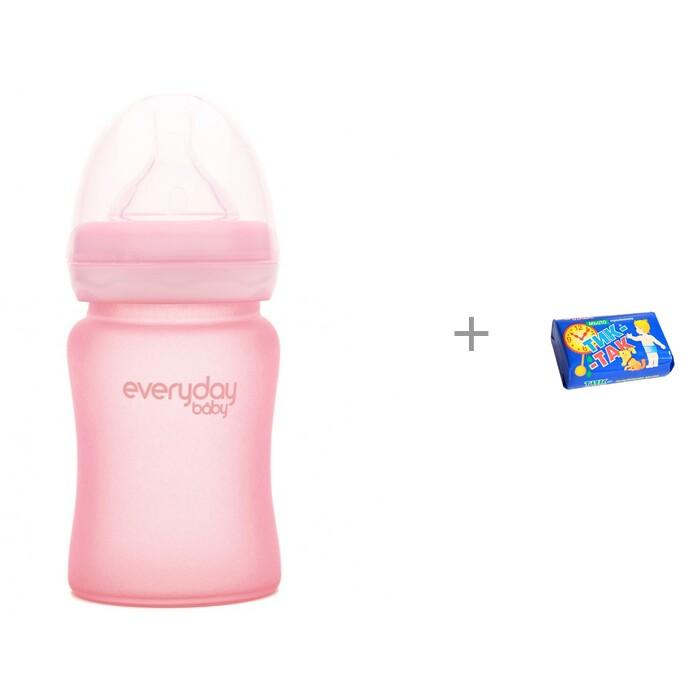 Купить Бутылочки, Бутылочка Everyday Baby Стеклянная с защитным силиконовым покрытием 150 мл и Мыло Свобода Тик-так 150 г