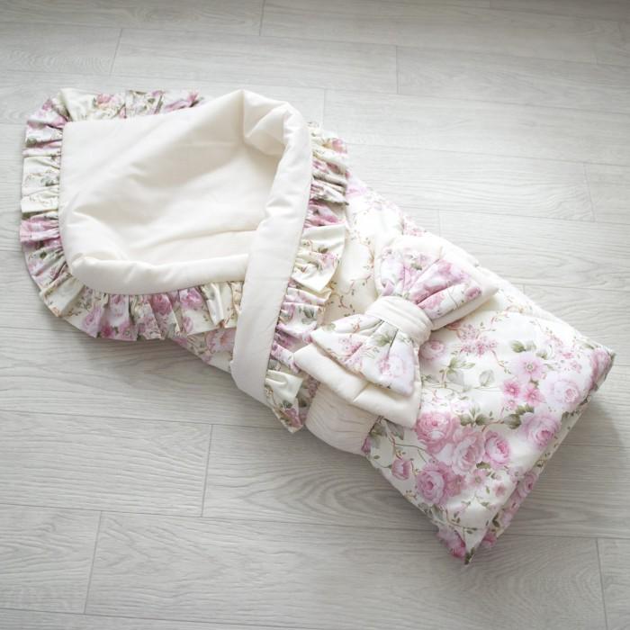 Евгения Весна Плед-конверт Розовый букет