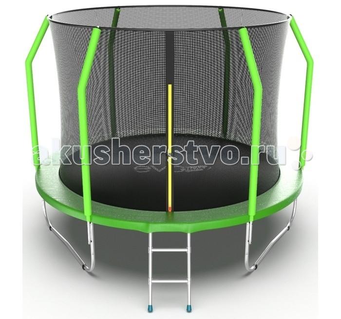 Детские батуты EVO Jump Батут Cosmo с внутренней сеткой и лестницей 10ft батут optifit jump 10ft 3 05 м