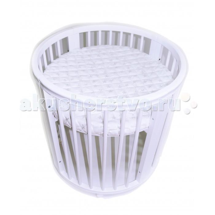 Кроватка-трансформер EvoBaby 7 в 17 в 1Кроватка-трансформер EvoBaby 7 в 1, предлагает 7 вариантов трансформации, которые позволяют использовать кроватку продолжительное время (круглая колыбель, овальная кроватка, манеж, диванчик, столик, стулья, пеленальный элемент).    Кроватка-транформер EvoBaby, будет расти вместе с малышом, увеличиваясь в размерах и не теряя своей основной функции – быть удобной и практичной и обязательно обеспечит Вашему ребенку спокойный и здоровый сон.  Особенности: соответствует европейским стандартам безопасности предназначена для детей с рождения до 7-ми лет 7 вариантов трансформации позволяют использовать кроватку продолжительное время (круглая колыбель, овальная кроватка, манеж, диванчик, столик, стулья, пеленальный элемент) диванчик с регулируемым по высоте уровнем дна кроватка имеет четыре регулируемых уровня высоты трансформируется в крепкий, просторный и устойчивый манеж  у люльки - 4 положения дна с интервалом 20 см овальная форма позволяет подойти к ребенку с любой стороны элегантный дизайн идеально подходит в интерьер любой комнаты легкость в трансформации и сборке удобная и практичная между рейками кровати безопасное расстояние, что исключает возможность попадания головки малыша между ними нет сложных конструкций и острых углов, между которыми может застрять рука или нога малыша конструкция кроваток сделана так, что она легко проветривается компактна и малогабаритна можно дополнить маятником (покупается отдельно) овальная кровать - 128 х 78 х 80 (ДxШxВ) люлька - 78 х 78 х 80 (ДxШxВ)  Материалы: экологически чистые и полностью безопасные для детей  каркас кроватки сделан из массива березы используются нетоксичные лаки и краски на водной основе матрас ортопедический и гипоаллергенный  В комплекте: матраса Холло Слим Ажур из 3-х частей (для круглой люльки и для овальной кроватки).<br>