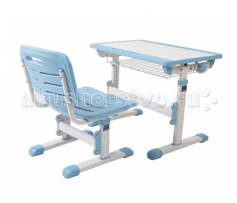 EvoLife MiniMax Комплект стол+стул трансформерMiniMax Комплект стол+стул трансформерEvoLife MiniMax Комплект стол+стул трансформер - универсальное решение для формирования правильной осанки у детей и подростков.  Особенности: В максимально поднятом состоянии столешницы стол превращается в мольберт! Прикрепите лист бумаги магнитами (в комплекте) и пригласите юного художника. Специальная подставка крепится на выдвижную полку стола. Легко снимается и моется без труда. Очень удобно для детского рисования. Больше весь пол не будет в краске у юного художника. Фломастеры не будут скатываться, поскольку краешек стола выше всей парты, но не настолько, чтобы это мешало или давило на руки при работе. Временно ненужные предметы могут лежать в желобочке по середине парты. Эргономичная форма спинки и сиденья стула формируют правильную осанку. Благодаря вентиляционным отверстиям заниматься на стуле в жаркую погоду более комфортно. Легко меняющийся угол столешницы помогает нам правильно учиться : горизонтальное положение – для сборки конструктора, поделок и пр. Наклон в 7 градусов - для правильного письма. Эргономичная форма спинки и сиденья делают стульчик удобным для всех детишек. Регулируемая высота обеспечит Ваше чадо стулом на долгие годы. А дополнительные регулируемые ножки сгладят все неровности. Регулируемая высота позволяет подогнать стол и стул под рост ребенка. Автоматическая блокировка не позволит своевольно ребенку опуститься на стуле, а стол никогда не окажется случайно на маленьких коленочках. Парта никогда не хлопнет, даже если соскользнут пальцы. Специальный механизм удерживает столешницу от внезапного закрытия. Столешница плавно опускается за счет газлифта.Шаловливые ручки всегда будут в целости и сохранности.  Все крючки на партах очень неудобные и порой даже острые, у нас же это фукционая деталь. Можно повесить портфель, а можно его повернуть и крючок становится держателем для подстаканника. Размеры стола : 65х50х52-78 см Размер сиденья: 38х34х30-42 см<br>