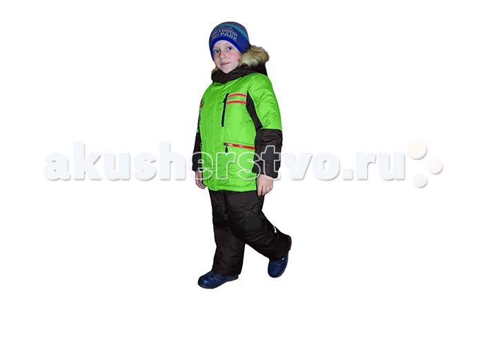 Эврика Комплект для мальчика RallyКомплект для мальчика RallyЭврика Комплект для мальчика Rally  Комплект (куртка + полукомбинезон) для мальчика зимний прекрасный вариант для холодной погоды. Температурный режим до -40 С.  Расположение застежки - молнии позволит легко снимать и одевать данное изделие.   Состав:  - Материал верха: Dewspo, membrane - 100% полиэстер.   - Утеплитель: Termofinn  300 гр - 100% полиэстер.  - Подкладка: хлопок, полиэстер.  - Подстежка:  мех - 50% шерсть, 50% полиэстер. - Опушка съемная - мех искусственный.   Уход: Автоматическая стирка до 30°<br>