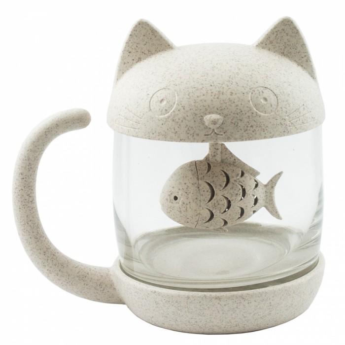 Картинка для Эврика подарки и удивительные вещи Кружка с ситечком Кот