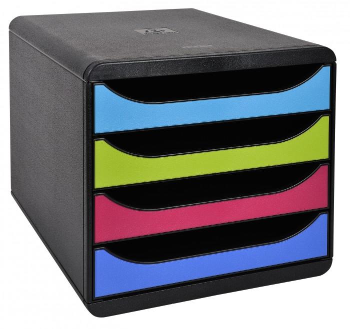 Exacompta Бокс с выдвижными лотками 4 лотка формат A4+