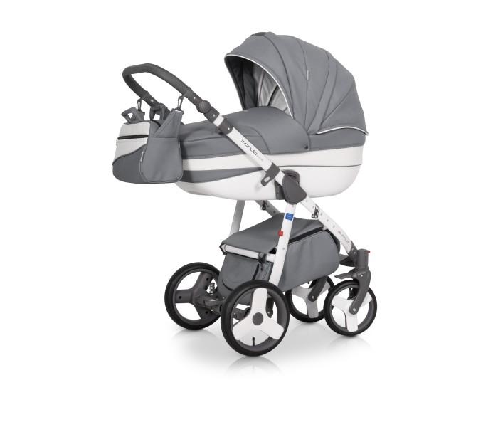 Коляска Expander Mondo Prime 3 в 1Mondo Prime 3 в 1Коляска Expander Mondo Prime 3 в 1 - современная коляска в оригинальном стильном дизайне, обладает отменными эксплуатационными качествами и высочайшей надежностью, гарантирует удобство не только ребенку, но и родителям.   Модель коляски очень удобна и маневренна благодаря небольшому весу, всего 14 кг, и ширины колесной базы в 60 см, позволяющей провезти коляску практически в любую дверь или лифт. Коляска оснащена пружинной амортизацией, большими маневренными колесами и надежной алюминиевой рамой. Коляска с такими характеристиками без проблем преодолевает самые разные препятствия на своем пути, не боится снега, дождя и грязи.   Выполнена коляска на облегчённой алюминиевой раме в белом цвете. Люлька изготовлена из прочного пластика, верхняя часть коляски из водонепроницаемой высококачественной комбинированной ткани.   Люлька: Просторная пластиковая люлька с жестким дном  Верхняя часть из водонепроницаемой высококачественной ткани  Не продуваемые борта  Регулируемый по высоте подголовник  Удобная ручка, расположенная на капюшоне для переноски, обтянута эко-кожей  Бесшумный механизм регулировки капюшона  Капюшон с открывающейся на молнии секцией, со встроенной москитной сеткой для вентиляции  Внутренняя вкладка выполнена из 100% хлопка, легко снимается для стирки  Матрас для новорожденного  Возможность установки люльки в 2 положениях (лицом к маме, или лицом по направлению движения коляски)  Размеры внутренние люльки (ДхШхВ): 80 х 37 х 22 см. Вес: 5 кг. Прогулочный блок: Четыре положения регулировки спинки, вплоть до горизонтального  Регулируемая подножка  Увеличенный регулируемый капюшон  Пятиточечные ремни безопасности с мягкими плечевыми накладками  Перемычка между ножек  Съемный бампер  Практичная накидка на ножки  Подножка с защитной пленкой  Возможность установки прогулочного блока в 2 положениях (лицом к маме, или лицом по направлению движения коляски)  Размеры сиденья прогулочного блока (ШхГ): 32 х 25 см.  высот
