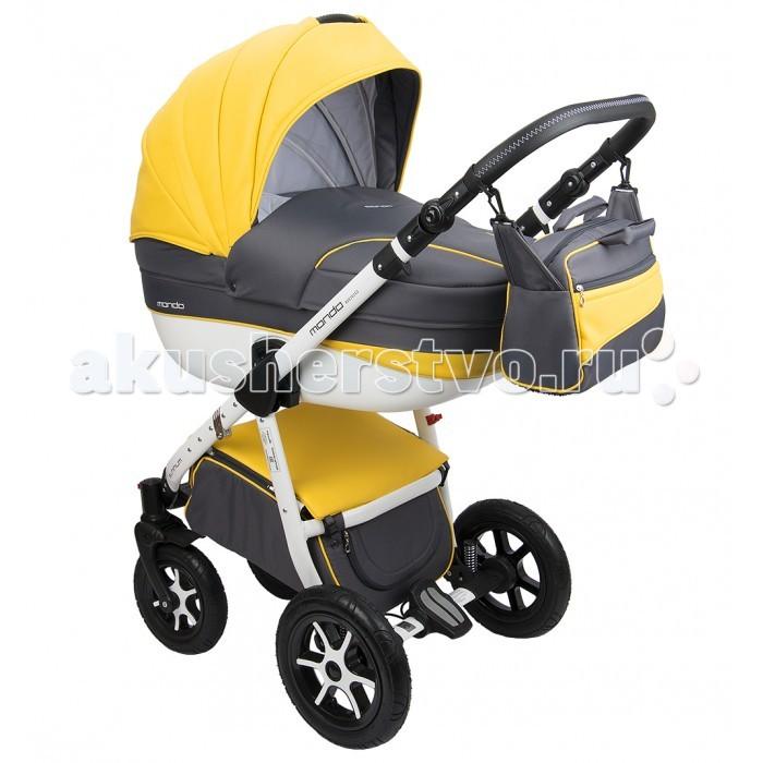 Коляска Expander Mondo Ecco 3 в 1Mondo Ecco 3 в 1Коляска Mondo Ecco 3 в 1 от Польского производителя Expander предназначена для детей с рождения и до 3-х лет.   Современная коляска в оригинальном стильном дизайне, обладает отменными эксплуатационными качествами и высокой надежностью, гарантирует удобство не только ребенку, но и родителям.   Коляска Mondo Ecco укомплектована автокреслом-переноской, комфортной люлькой и прогулочным блоком, которые легко устанавливаются на раму, как по ходу, так и против хода движения, т.е. «лицом к маме».   Люлька коляски просторная, обтекаемой формы позволит малышу чувствовать себя комфортно как зимой, так и летом. Бортики люльки дополнительно утеплены изнутри, что защищает малыша от ветра и непогоды во время прогулок.  Комфортное и удобное прогулочное сиденье для подросшего малыша предоставит наилучшие условия для увлекательных прогулок и изучения окружающего мира. Для этого спинка сиденья может устанавливаться в нескольких положениях, а подножка регулируется по высоте.   Модель коляски очень удобна и маневренна благодаря небольшому весу, всего 14 кг, и ширины колесной базы в 60 см, позволяющей провезти коляску практически в любую дверь или лифт. Коляска оснащена пружинной амортизацией, большими маневренными колесами и надежной алюминиевой рамой. Коляска с такими характеристиками без проблем преодолевает самые разные препятствия на своем пути, не боится снега, дождя и грязи.   Выполнена коляска на облегчённой алюминиевой раме в белом цвете. Люлька изготовлена из прочного пластика, верхняя часть коляски из экологически чистой морозостойкой эко-кожи, с влагостойкой пропиткой и защитой от солнечных лучей.  Превосходное сочетание дизайна и европейского качества!   Автокресло-переноска:   Автокресло для детей (группа + 0 до 10 кг.)   Анатомическая форма сиденья   Имеется адаптер, который позволяет закрепить автокресло на раму коляски   Трехточечные ремни безопасности с центральным замком   Удобная ручка для переноски   Регулируемый капюш