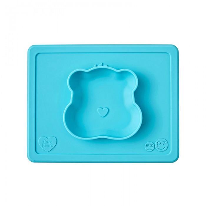 Аксессуары для кормления , Посуда Ezpz Силиконовая тарелка-плейсмат Happy Bowl Care Bear Edition арт: 537271 -  Посуда