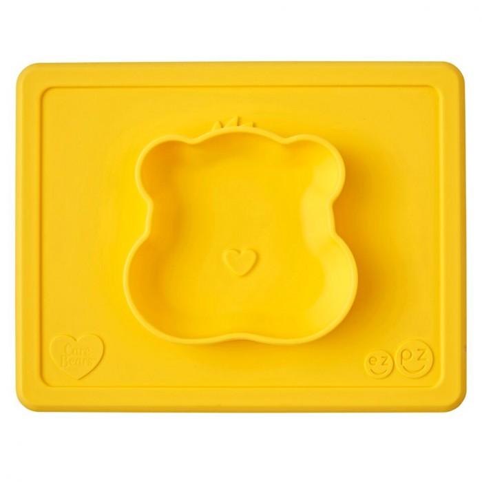 Посуда Ezpz Силиконовая тарелка-плейсмат Happy Bowl Care Bear Edition, Посуда - артикул:537271