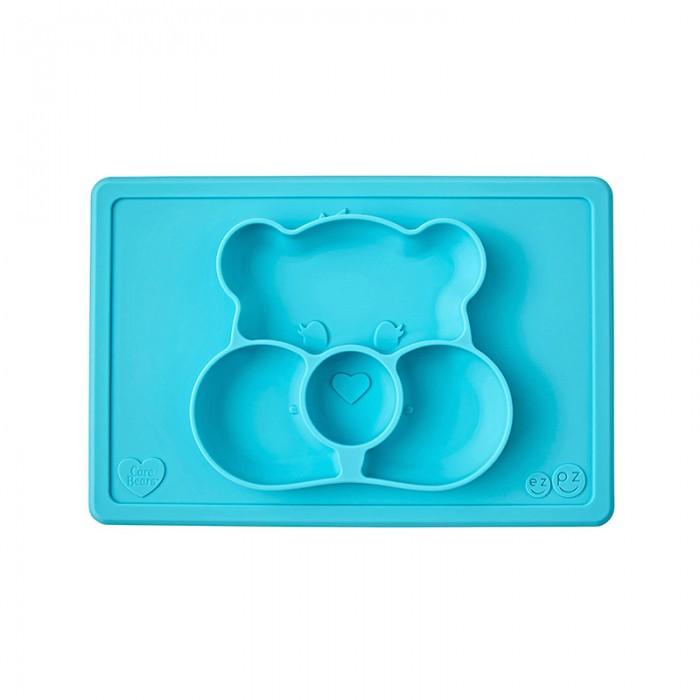 Посуда Ezpz Силиконовая тарелка-плейсмат Happy Mat Care Bear Edition, Посуда - артикул:537261