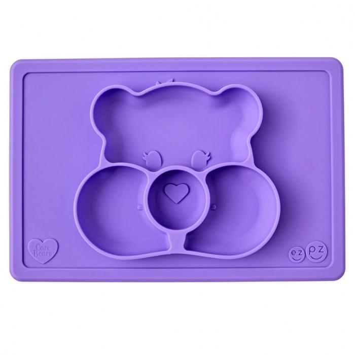Аксессуары для кормления , Посуда Ezpz Силиконовая тарелка-плейсмат Happy Mat Care Bear Edition арт: 537261 -  Посуда