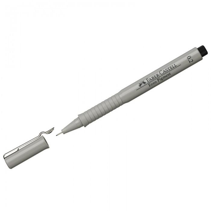 Канцелярия Faber-Castell Ручка капиллярная Ecco Pigment 0.2 мм faber castell ручка капиллярная ecco pigment 0 7 мм цвет чернил черный