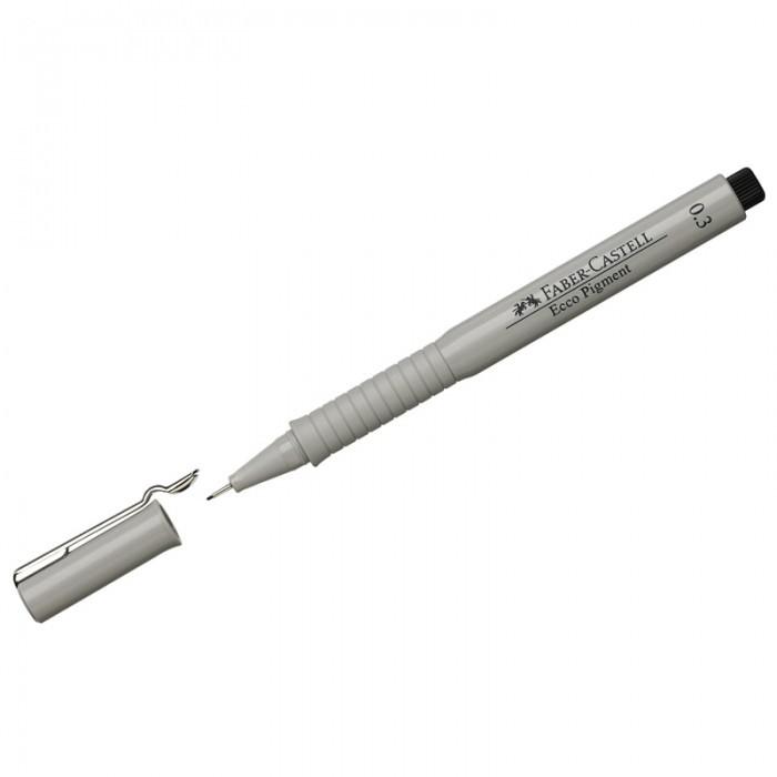 Канцелярия Faber-Castell Ручка капиллярная Ecco Pigment 0.3 мм faber castell ручка капиллярная ecco pigment 0 7 мм цвет чернил черный