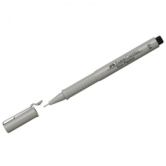 Канцелярия Faber-Castell Ручка капиллярная Ecco Pigment 0.4 мм faber castell ручка капиллярная ecco pigment 0 7 мм цвет чернил черный
