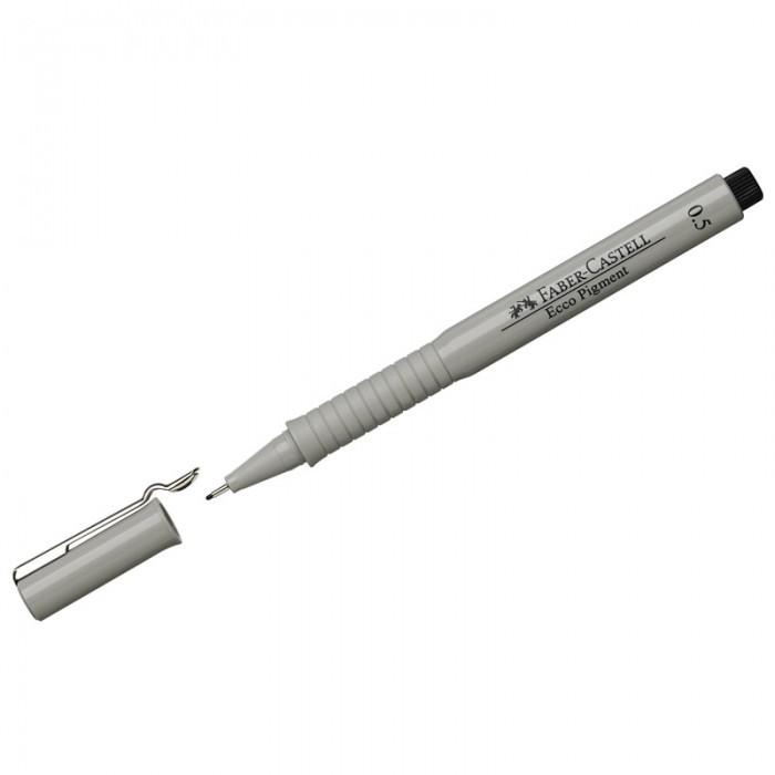 Канцелярия Faber-Castell Ручка капиллярная Ecco Pigment 0.5 мм faber castell ручка капиллярная ecco pigment 0 7 мм цвет чернил черный