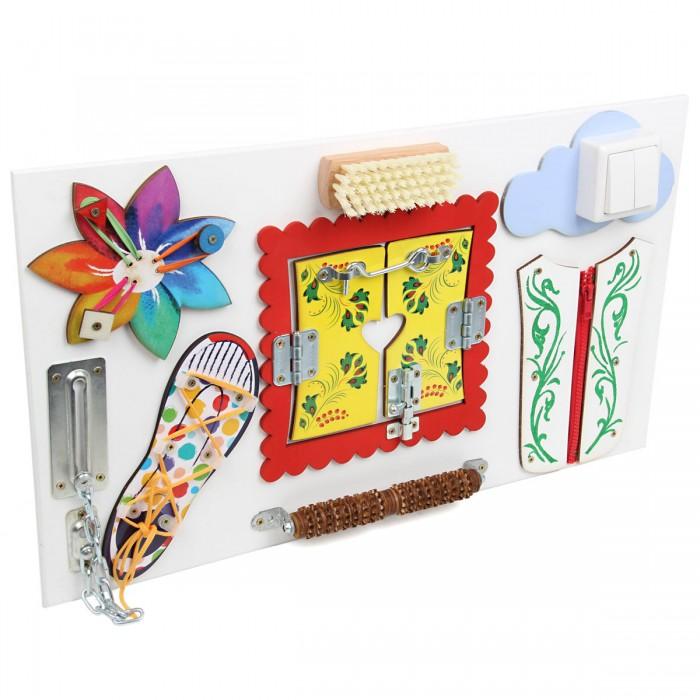 Деревянная игрушка Фабрика фантазий Бизиборд Цветик-Семицветик фото