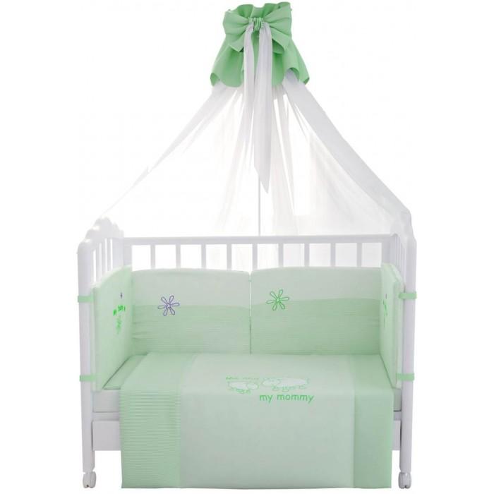 Комплекты в кроватку Fairy Белые кудряшки 140х70 (7 предметов) love graphic tank top and pants twinset