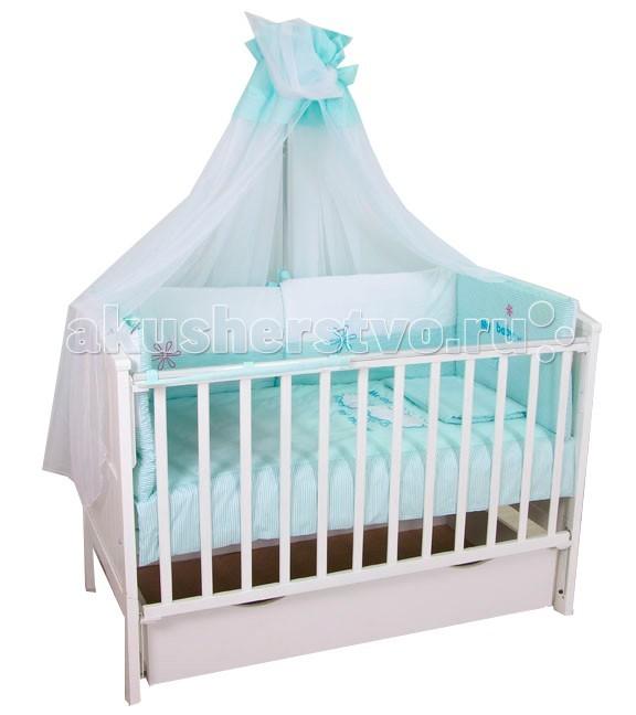Картинка для Комплекты в кроватку Fairy Белые кудряшки 140х70 (7 предметов)