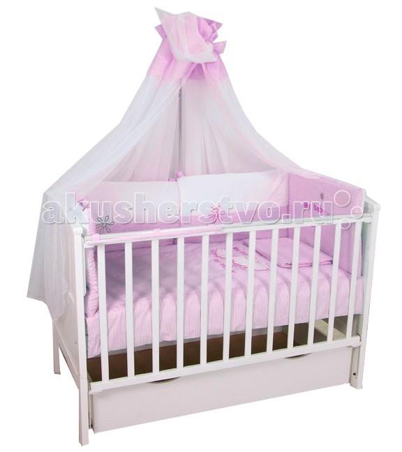 цена Комплекты в кроватку Fairy Белые кудряшки 140х70 (7 предметов) онлайн в 2017 году