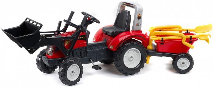 Детский транспорт , Педальные машины Falk Трактор-экскаватор педальный с прицепом 210 см арт: 390234 -  Педальные машины
