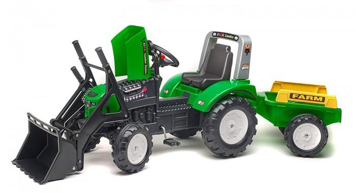 Купить Педальные машины, Falk Трактор-экскаватор педальный с прицепом FAL 202